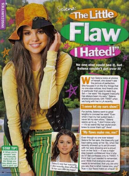 Selena odia sus orejas
