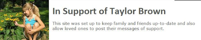 In Support of Taylor Brown