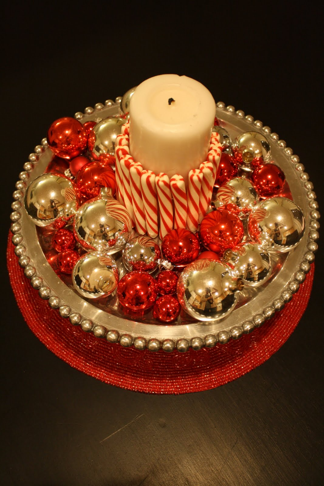This and that creative blog candy cane candle for Candy cane holder candle centerpiece