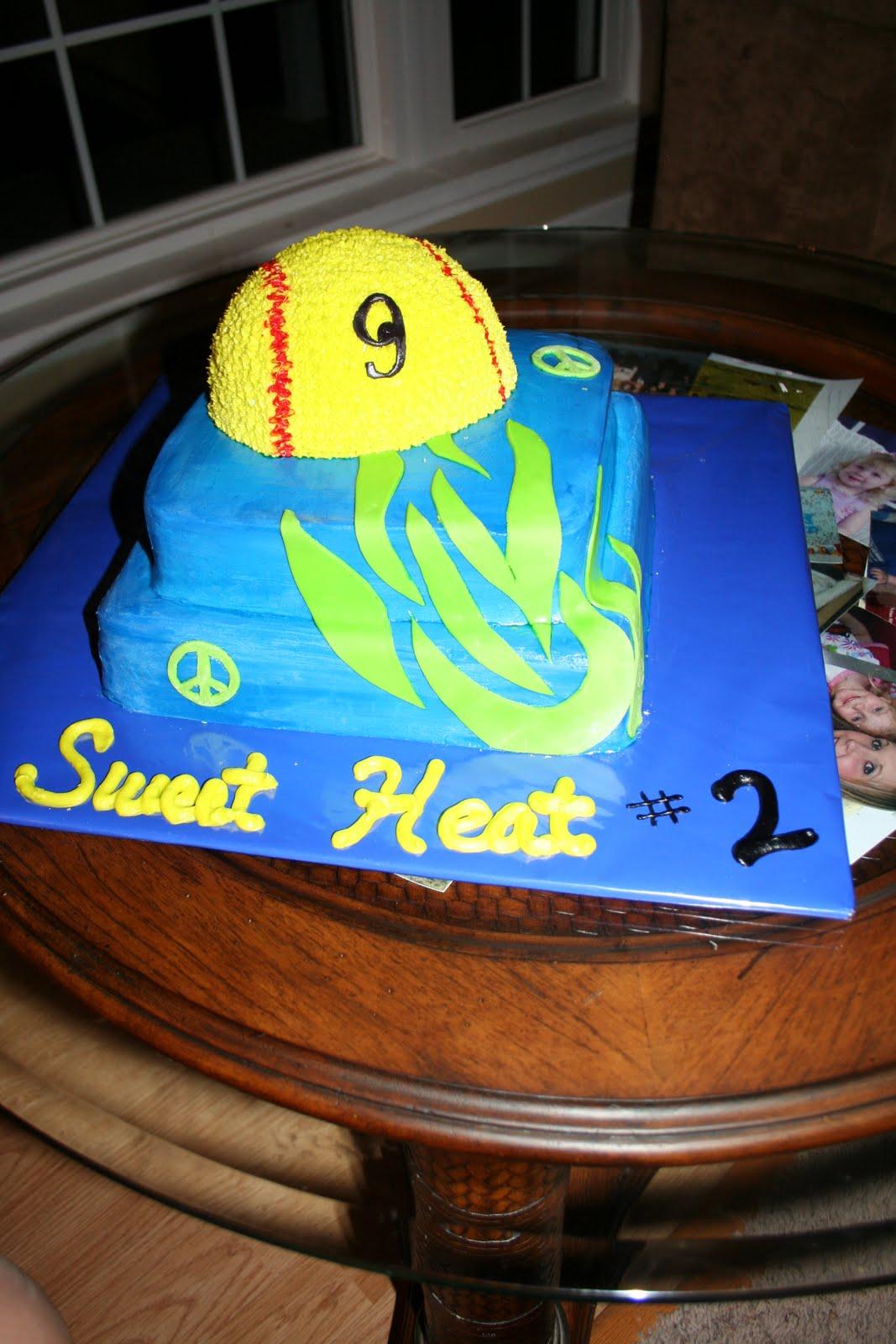 Love Eden Cake Sweet Heat Softball Cake