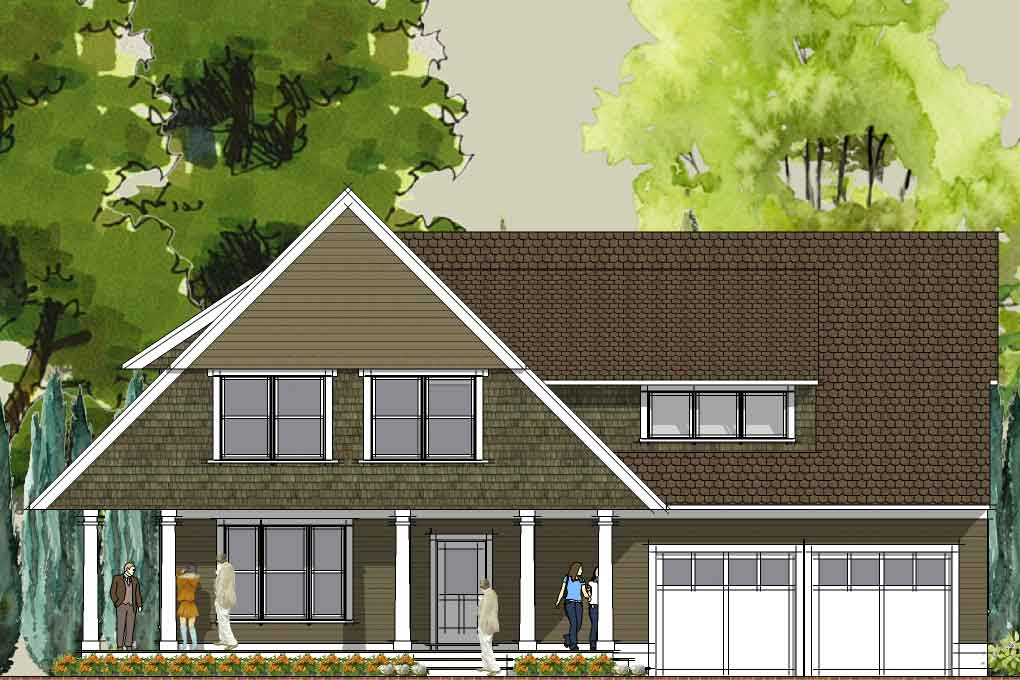 Simply Elegant Home Designs Blog: Modern Cottage House Plan Update   The  Afton