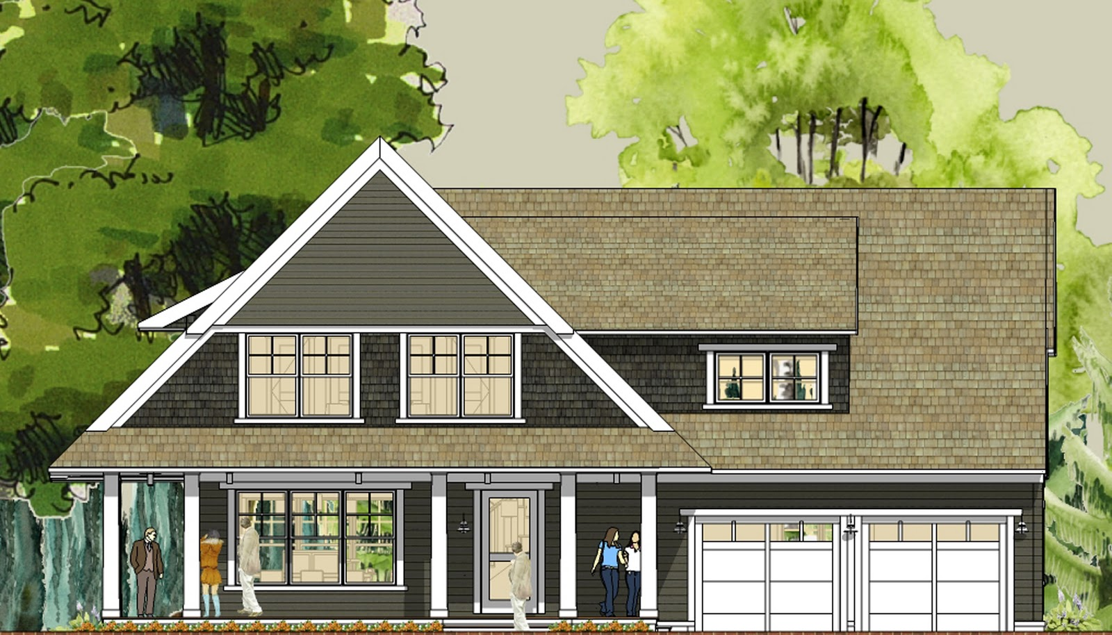 Simply elegant home designs blog modern cottage house for Cottage house plans