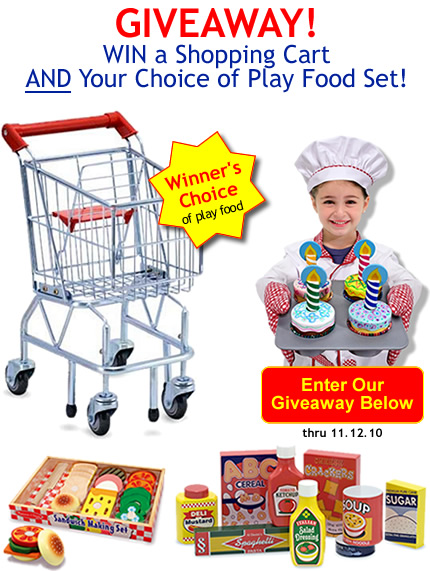 play food and melissa and doug shopping cart giveaway