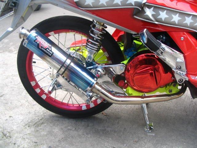 Modifikasi Yamaha Nouvo gaya Elegant Ganteng Pisan title=