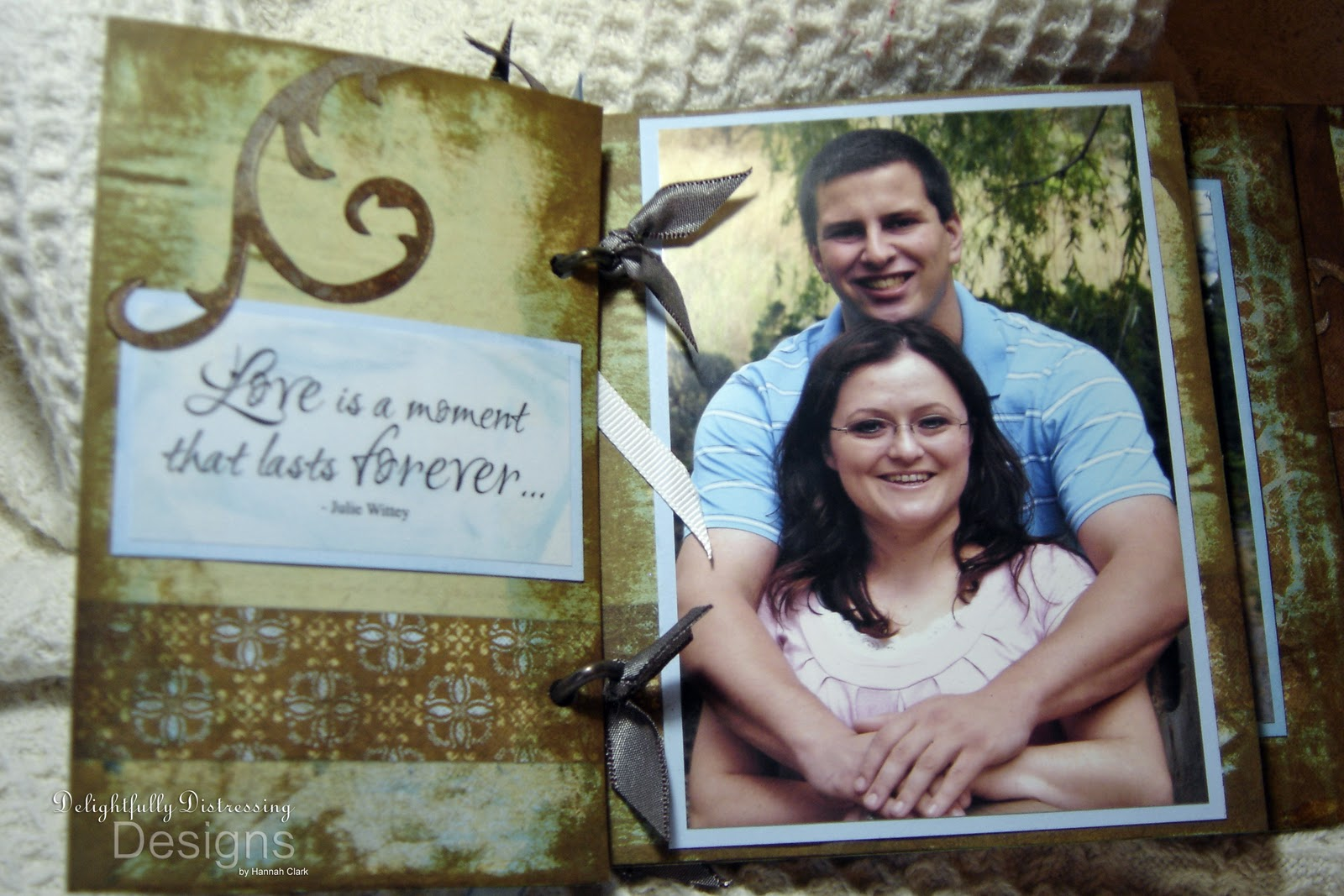 Delightfully Distressing Designs: Engagement Gift Album