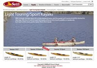 Swift Canoe &amp; Kayak Website