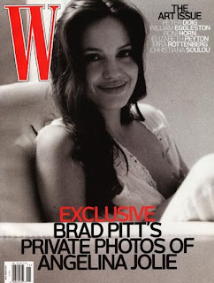 brad pitt's private photos of Angelina on the cover of the November issue of W magazine picture