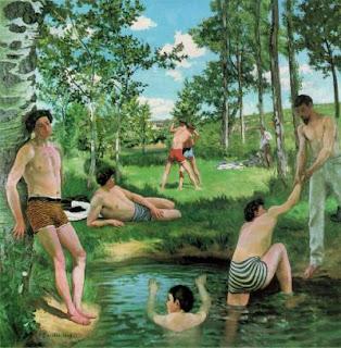 Bazille Verão Summer Cena de Verão paisagem mergulhar floresta