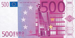 nota de 500 euros € dinheiro money