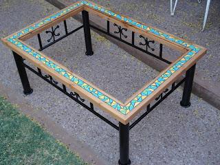 Mosaicos mesa centro con mosaico - Mesas con azulejos ...