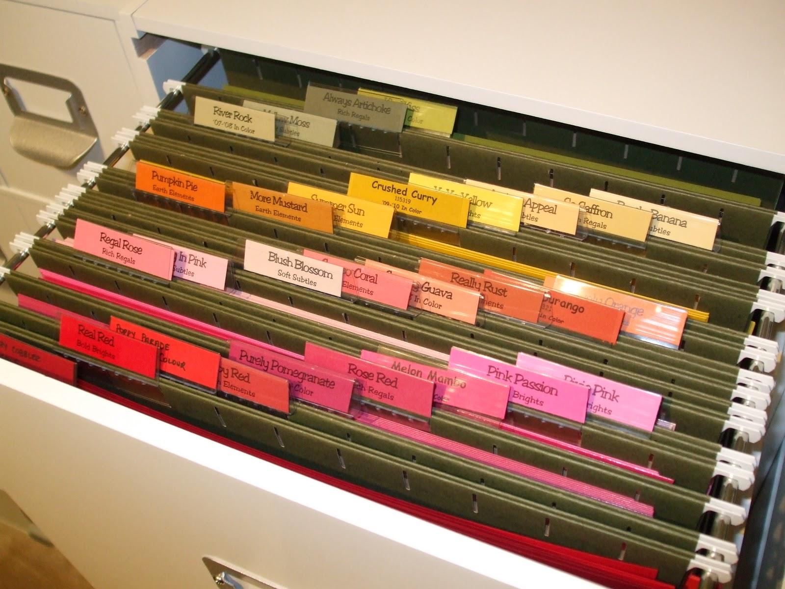Scrapbook paper organization ideas - Cardstock Organization