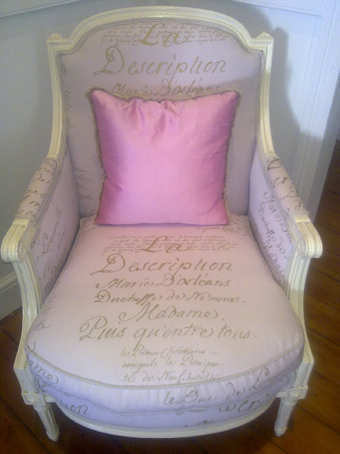 My Chair ~ Frances Russell Interiors