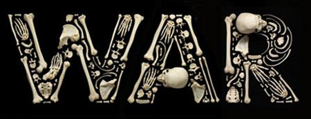 Huesos Humanos usados para hacer Arte. Di NO a la Violencia!!!
