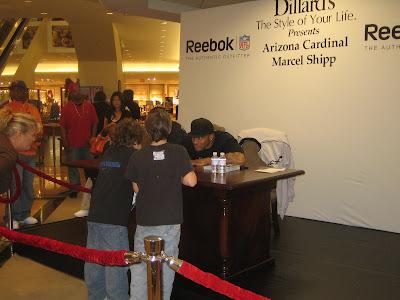 Marcel Shipp signing autographs at Dillard's
