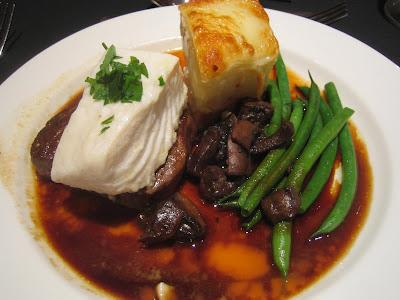 halibut and steak