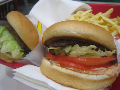 In-N-Out - two burgers and an order of fries