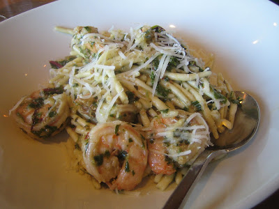 Radio Milano - gino's spicy shrimp pasta w/ toasted almond pesto
