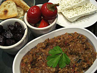 Meze Spread 2 with Eggplant Salad