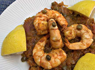 Shrimp Santorini in Tomato and Caper Sauce