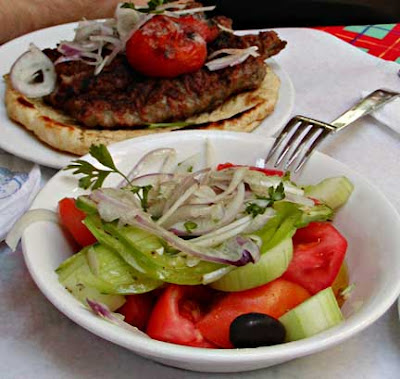 Horiatiki Salata and Kebab