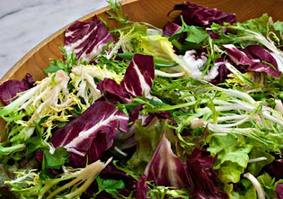 Radicchio Frisee and Arugula Salad