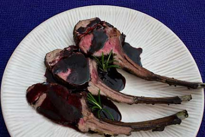 Roast Rack of Lamb with Red Wine Sauce