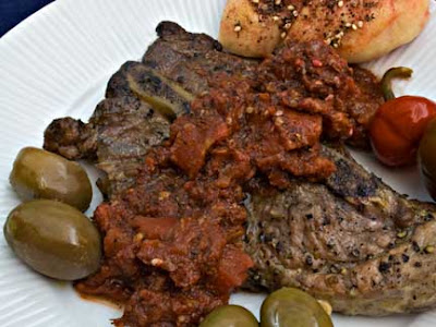 Za'atar Tomato Sauce and Grilled Pork