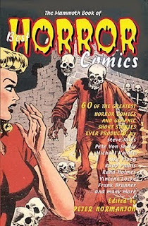 Book cover to The Mammoth Book of Horror Comics edited by Peter Normanton
