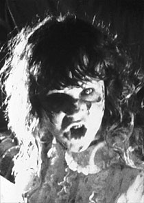 Image of Regan possessed in The Exorcist