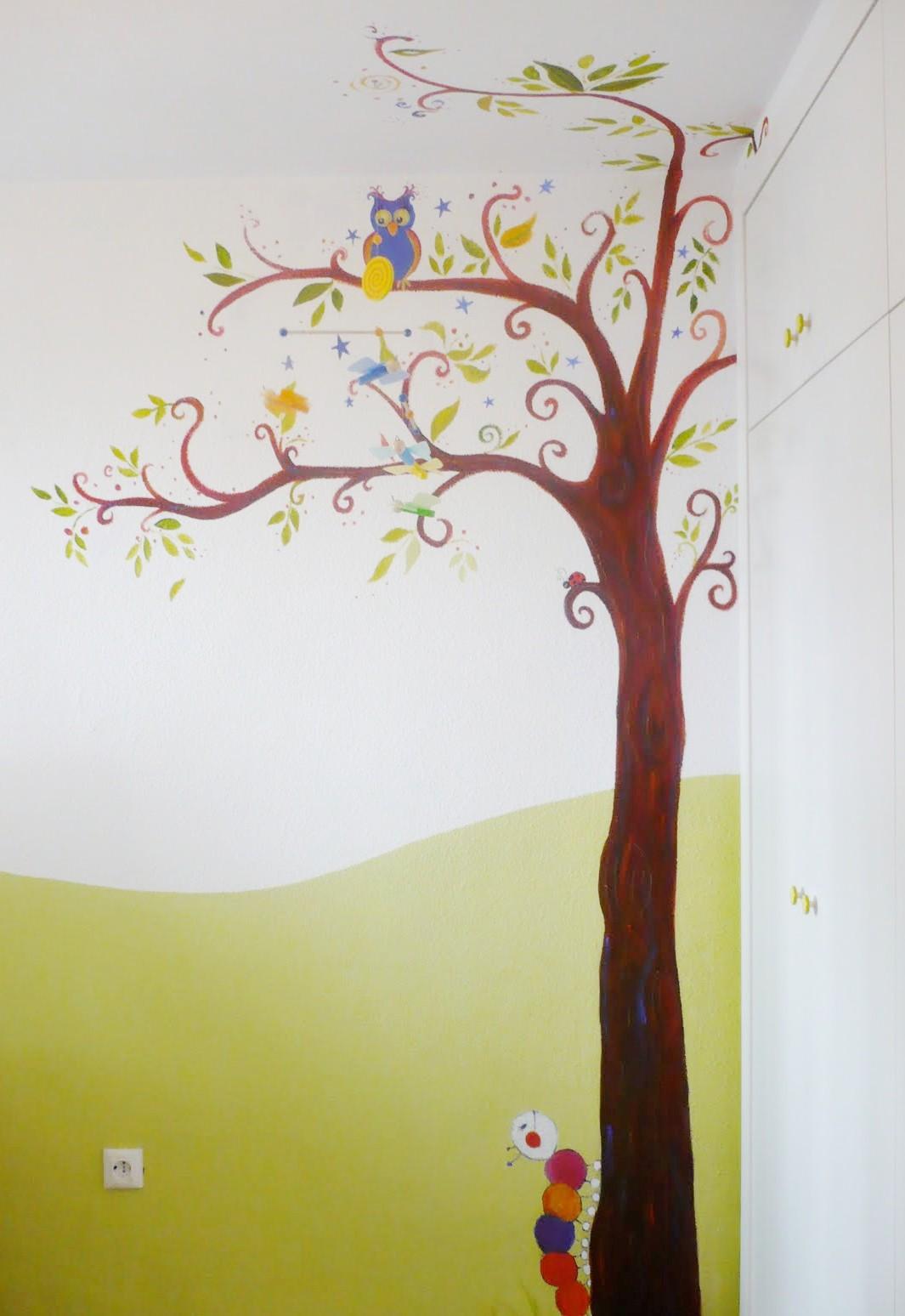 Muxugorri blog habitaciones infantiles decorar con murales - Habitaciones pintadas infantiles ...