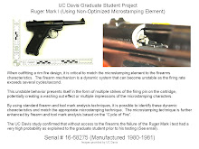 UC Davis Ruger Mark I - Rim Fire Test Pistol