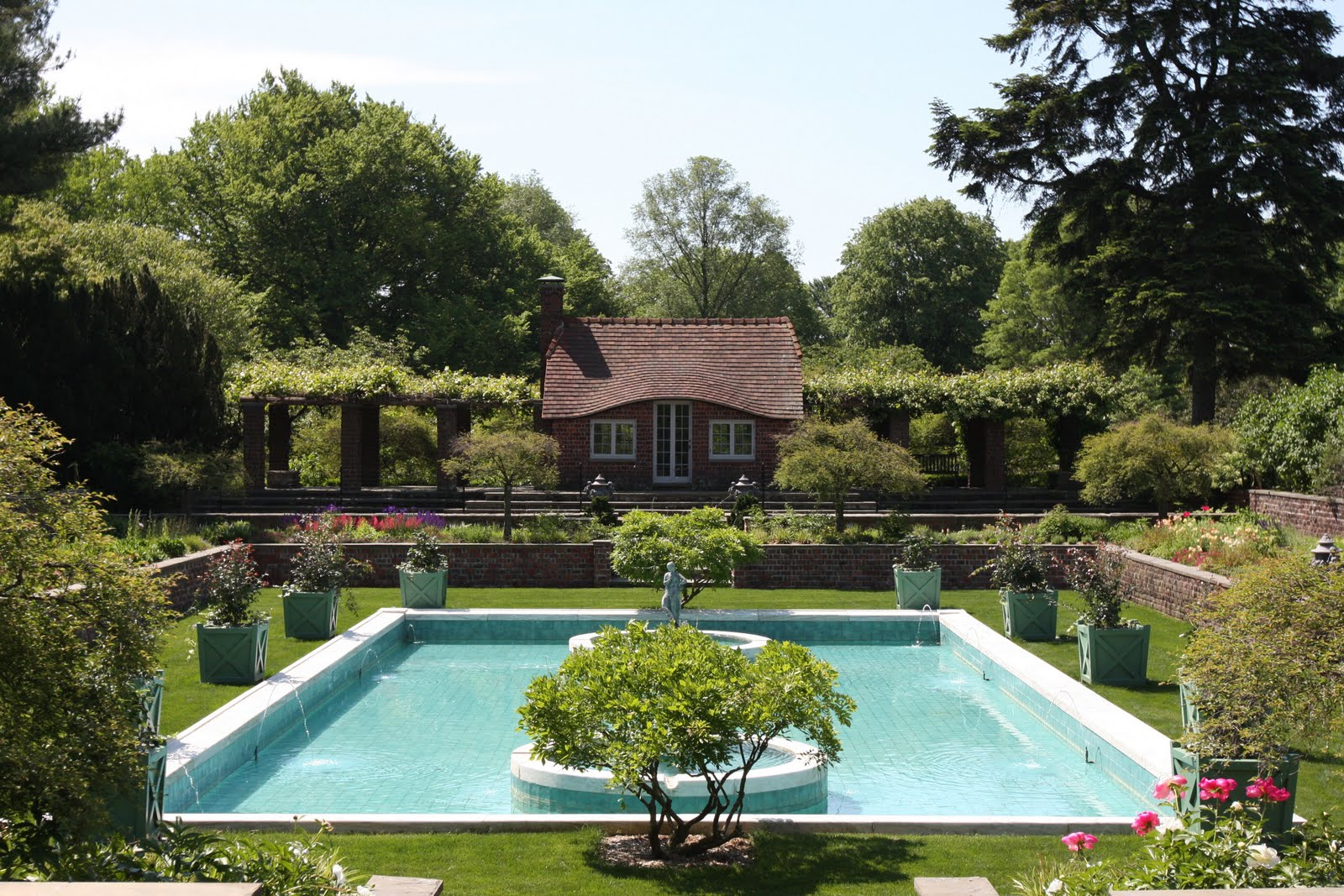 Old Long Island The Italian Blue Pool Garden At 39 Planting Fields 39