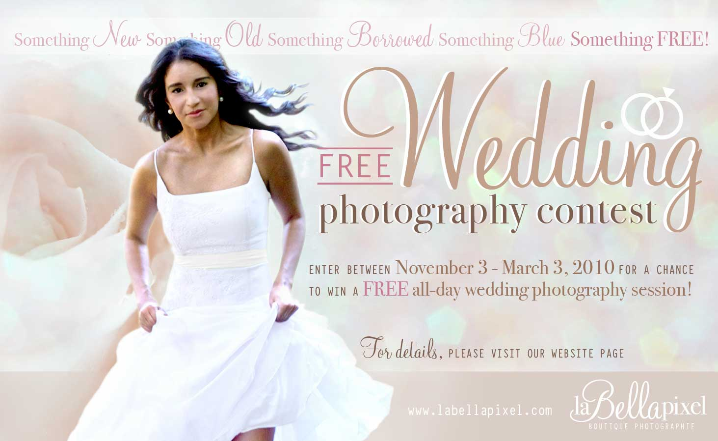 Enter Between November 3 March 2010 For Achance To Win A Free All Day Wedding Photography