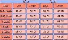 >>>gap sleepwear chart