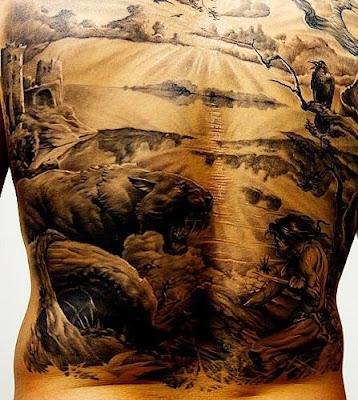 cool back tattoo