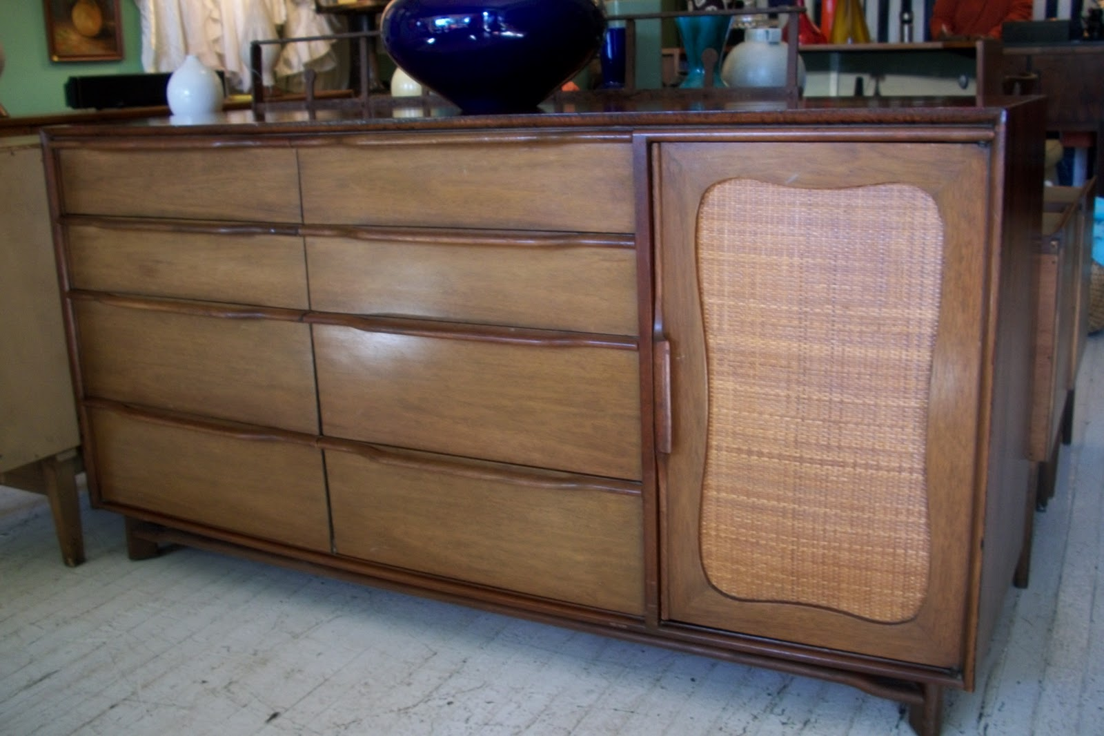 An orange moon mid century modern hickory credenza for Modern furniture companies