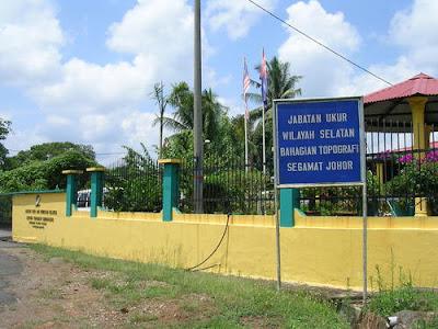 Peja bat Sek syen Topografi Cawangan Wilayah Selatan.S egamat Johor.