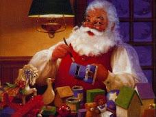 Papai Noel pintando