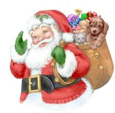 Papai Noel com saco de brinquedos