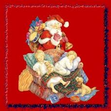 Papai Noel com crianças
