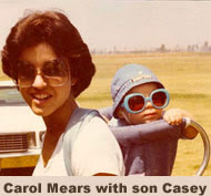 Carol Mears with son Casey