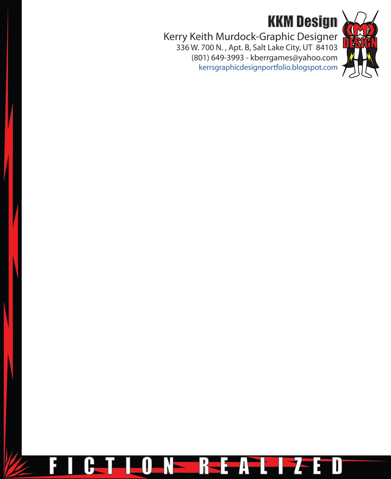 graphic design experience kkm game character design letterhead