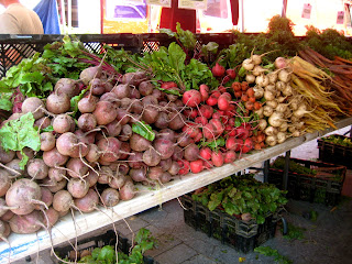 root vegetables at greenmarket