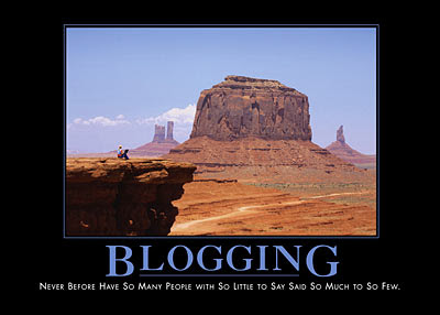 blogging demotivational poster