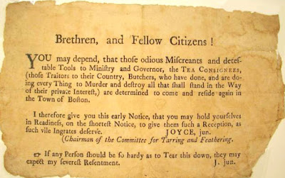 Boston tea party notice