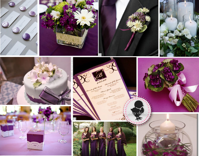 Hawaiian Island Wedding Planners: PURPLE & BLACK WEDDING PALETTE ...