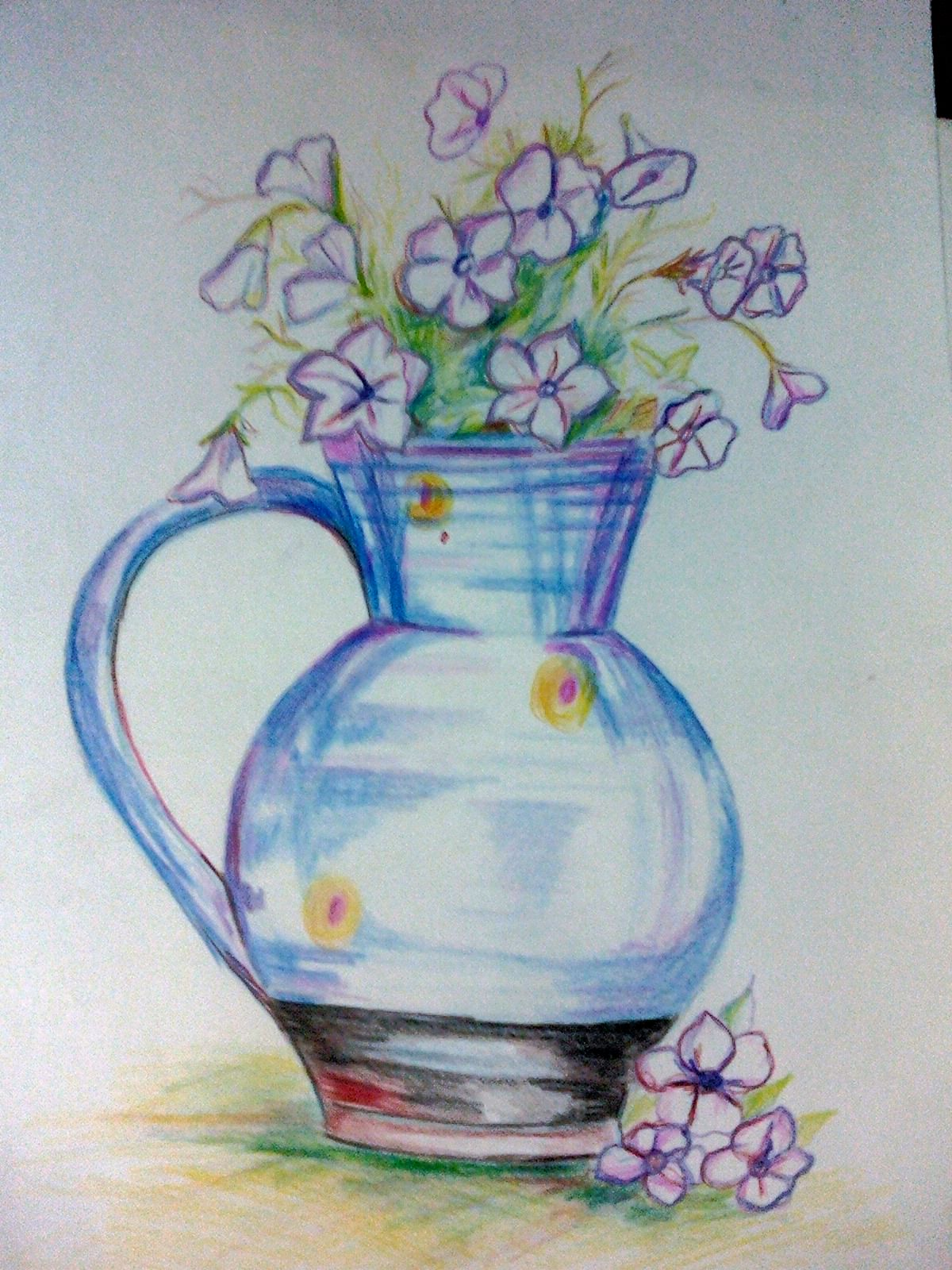 You Can Draw And Paint A Flower Pot