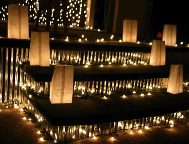 A Wedding Decoration Staple Paper Bag Lanterns