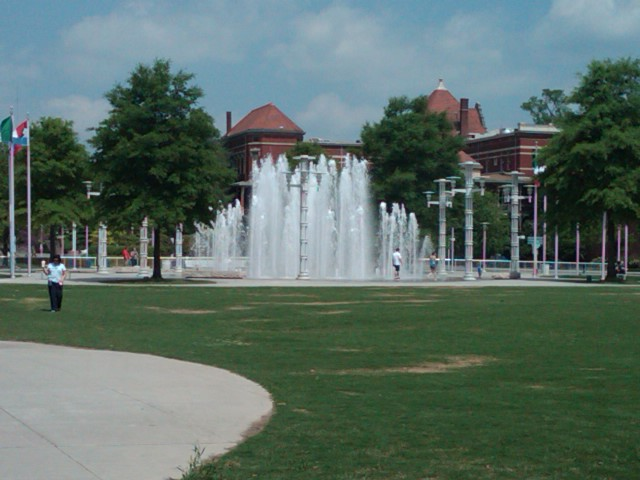Knoxville's World's Fair Park Fountains