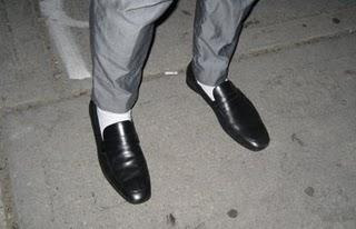 your style 15 seconds white socks dress shoes